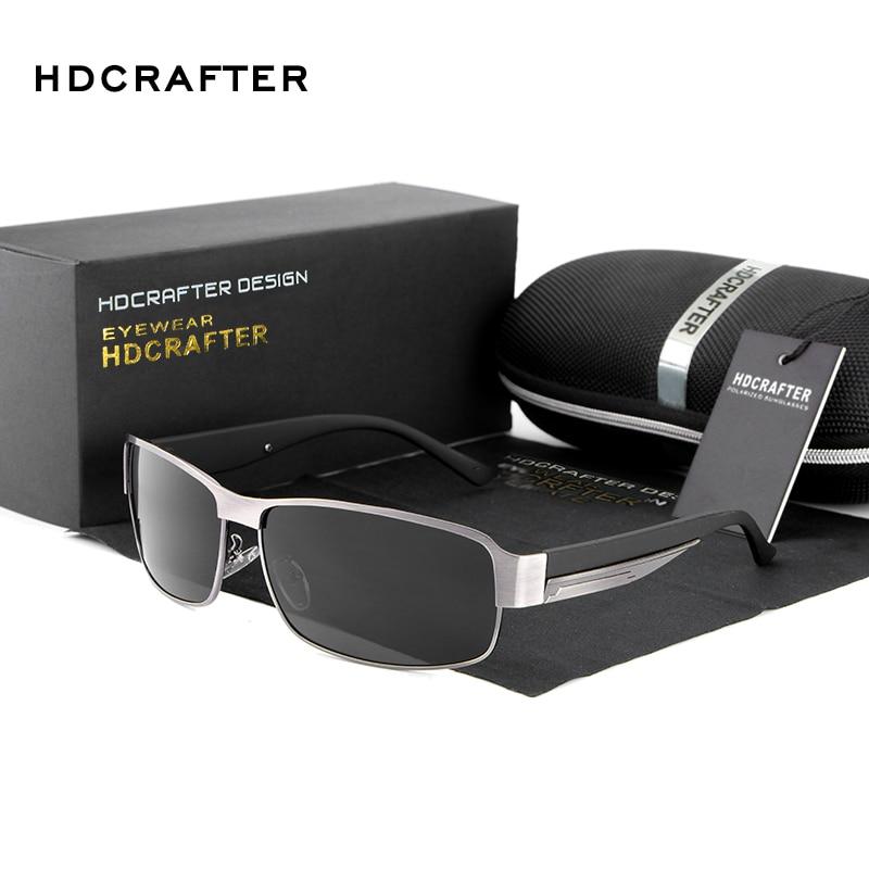 HDCRAFTER Fashion Driving Sun Glasses for Men Polarized UV400 Brand Designer Sunglasses Men Oculos Male gafas