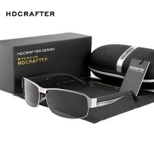 HDCRAFTER موضة القيادة نظارات شمسية للرجال الاستقطاب UV400 ماركة مصمم النظارات الشمسية الرجال Oculos الذكور gafas دي سول 2017 الساخن