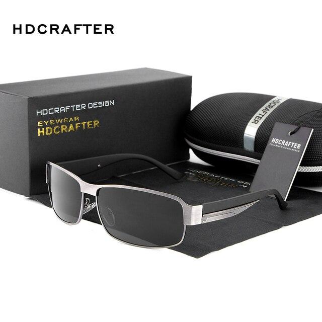 HDCRAFTER di Modo di Guida Occhiali Da Sole per Gli Uomini Polarizzati UV400 Del Progettista di Marca Occhiali Da Sole Da Uomo Oculos Maschio gafas de sol 2017 Hot
