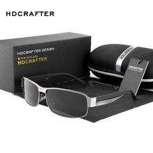 Hdcrafter óculos de sol masculino polarizado, para homens uv400 marca de designer, 2017 quente
