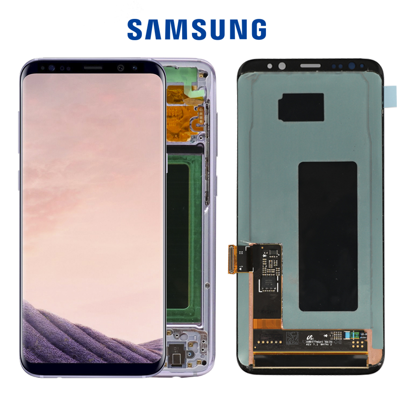 ORIGINAL 5 8 S8 Display Screen for SAMSUNG Galaxy S8 Screen Replacement LCD Touch Digitizer Assembly ORIGINAL 5.8'' S8 Display Screen for SAMSUNG Galaxy S8 Screen Replacement LCD Touch Digitizer Assembly G950F G950 with FRAME