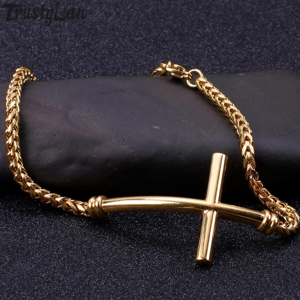 Husband Gift Boyfriend Gift Men/'s Gift Men/'s Jewelry Men/'s Stainless steel Bracelet Men/'s Chain Bracelet Men/'s Gold Bracelet