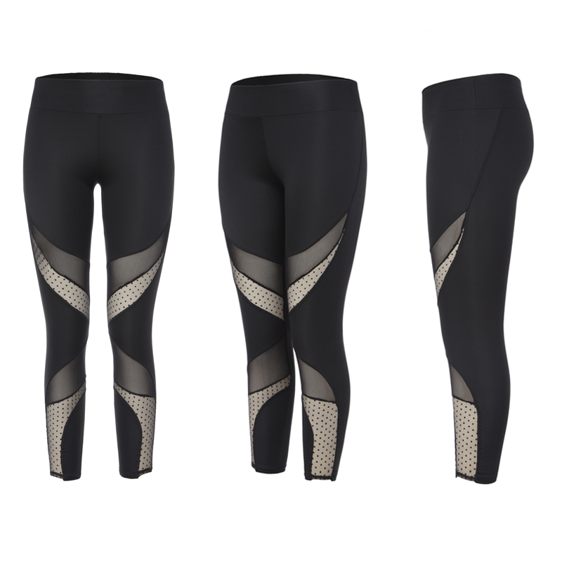 Купить с кэшбэком Women Mesh sport Leggings Fitness Yoga Set Pant Elastic Sport Suit Seamless Tight Gym yoga pants fitnes gym Wear sprots Clothing