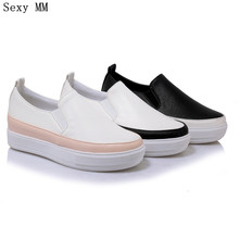 Slip On Shoes Flat Platform Women Oxfords Shoes Loafers Flats Woman Casual Shoes High Quality Plus Size 34 – 40 41 42 43