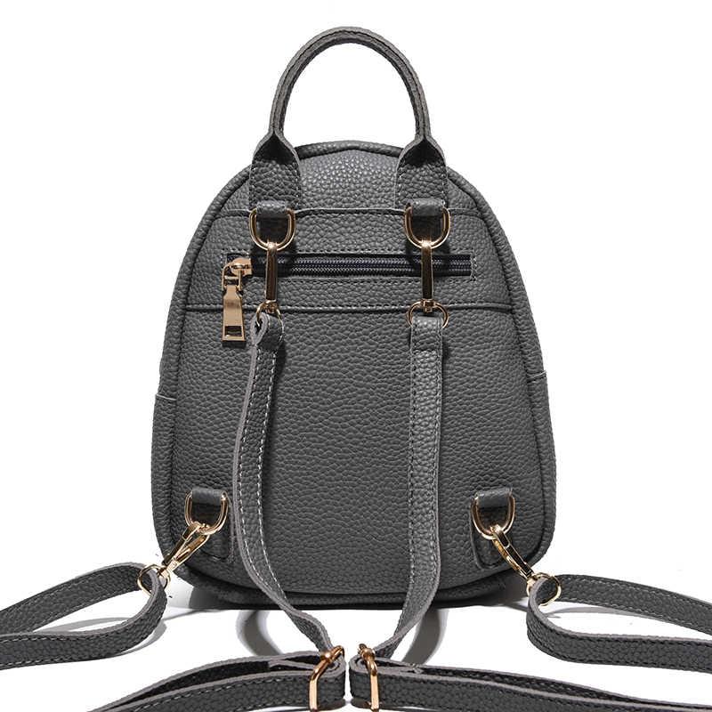 Toposhine мини-сумка, новые корейские рюкзаки, модная женская сумка на плечо из искусственной кожи, однотонный маленький рюкзак для девочек, школьная сумка 9001