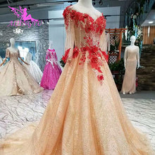 AIJINGYU Bride Dresses With Sleeves Gown Train Dress For