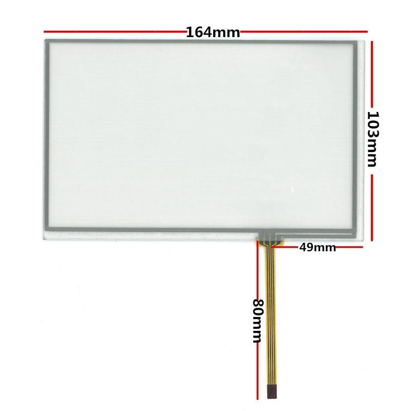 10pcs/1lot AT070TN90 92/AT070TN83V.1 7.1 inch New 164*103mm Resistance Handwriting Screen Touch Screen Digitizer Panel стоимость