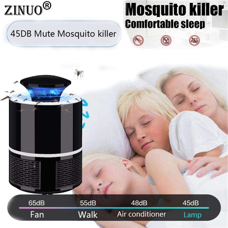 ZINUO Electric Mosquito Killer Lamp 5V 5W USB LED Bug Zapper Anti Insect Trap Home Room Pest