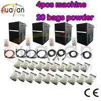 4pcs/lot+20 bags powder Professional dmx stage cold spark fountain machine titanium powder machine for wedding