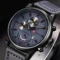 CURREN Fashion Chronograph Sport Mens Watches Top Brand Luxury Quartz Watch Reloj Hombre 2016 Clock Male