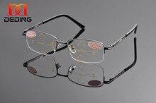 pół okulary metalowe soczewki