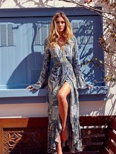 Style women dress womens clothing fashion ladies female long sleeve beach cute flower printed dresses