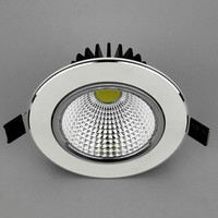 20p Lot High Power White Shell LED Dimmable Downlight 15w COB Led Down Light Recessed Cob