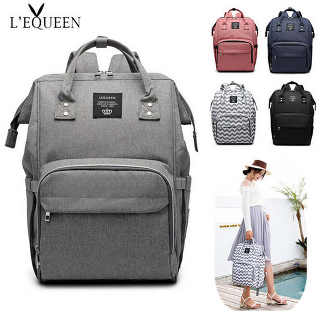 Us 19 71 17 Off Lequeen Diaper Bag Pure Color Men S Mummy Baby Care Ny 44cm Large Capacity Waterproof Business Backpack Travel In