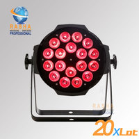 Rasha 20X LOT High Brightness New 18*15W 5in1 RGBAW Tinit 5 Color LED Par Can Light Stage Light,American DJ Light