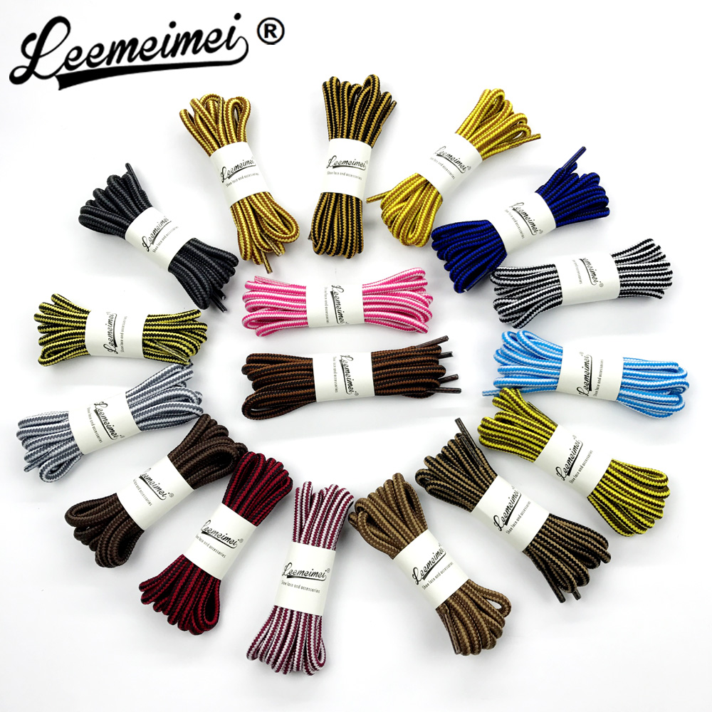 цена на 1 pair 90cm Wholesale Fashion Brand Polyester Sneaker Shoe Lace Double Striped Braid Round Shoelaces Top Quality