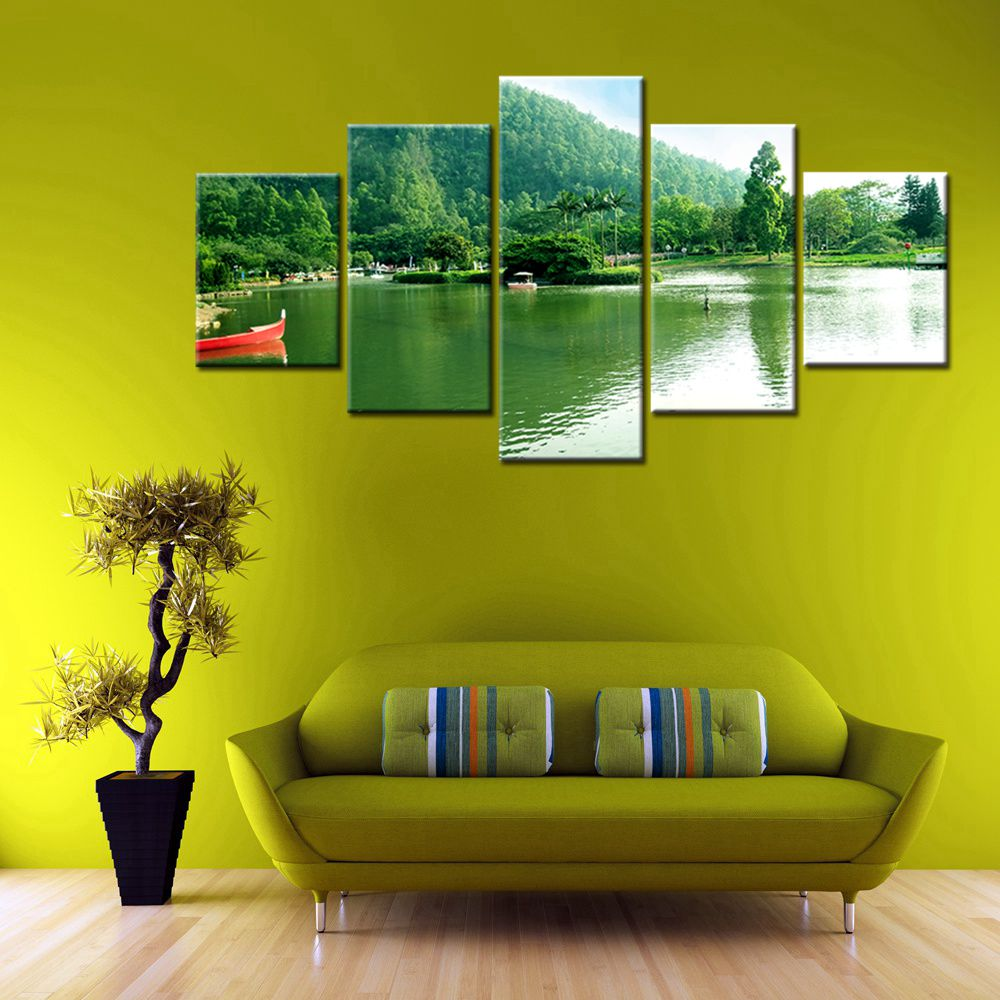 New Sale Tropical Island 5 Pieces High Quality Modular Painting ...