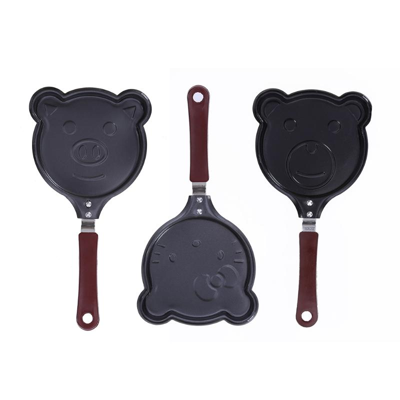Mini Lovely Non-stick Omelette Pans Creative Korean Style Breakfast Pans Egg Fryer Pans Lovely Breakfast Maker Kitchen