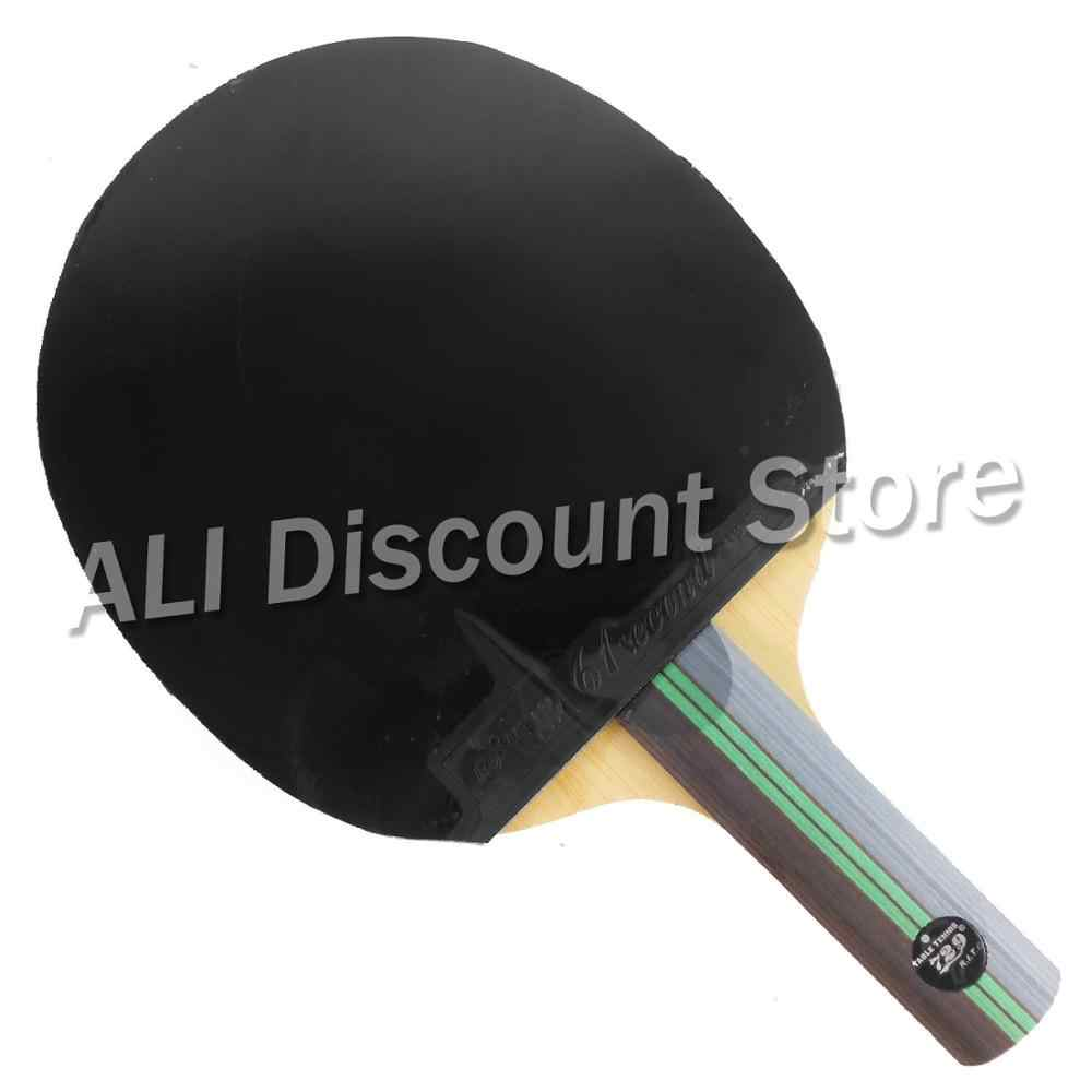 RITC 729 W-1 Long Shakehand ST Blade with 61second DS LST and DHS NEO Hurricane 3 Rubbers for a Table Tennis Combo Racket  ST