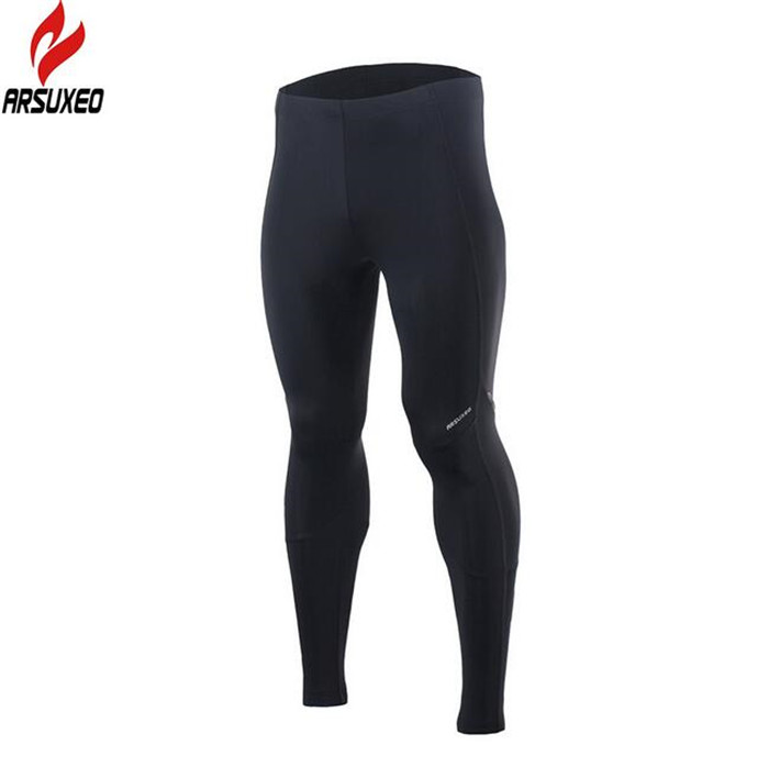 ARSUXEO Men 39 s Sports Compression Tights Running Pants Elastic Tights Run Fitness Active GYM Reflective pants Clothing in Cycling Pants from Sports amp Entertainment
