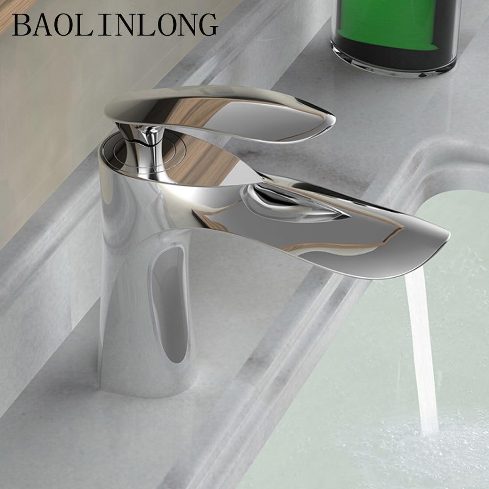 BAOLINLONG News Style Brass Basin Deck Mount Bathroom Faucet Vanity Vessel Sinks Mixer Tap FaucetBAOLINLONG News Style Brass Basin Deck Mount Bathroom Faucet Vanity Vessel Sinks Mixer Tap Faucet