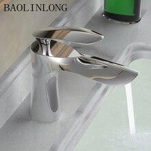 News Style Brass Chrome Basin Deck Mount Bathroom Faucet Vanity Vessel Sinks Mixer Bath Tap