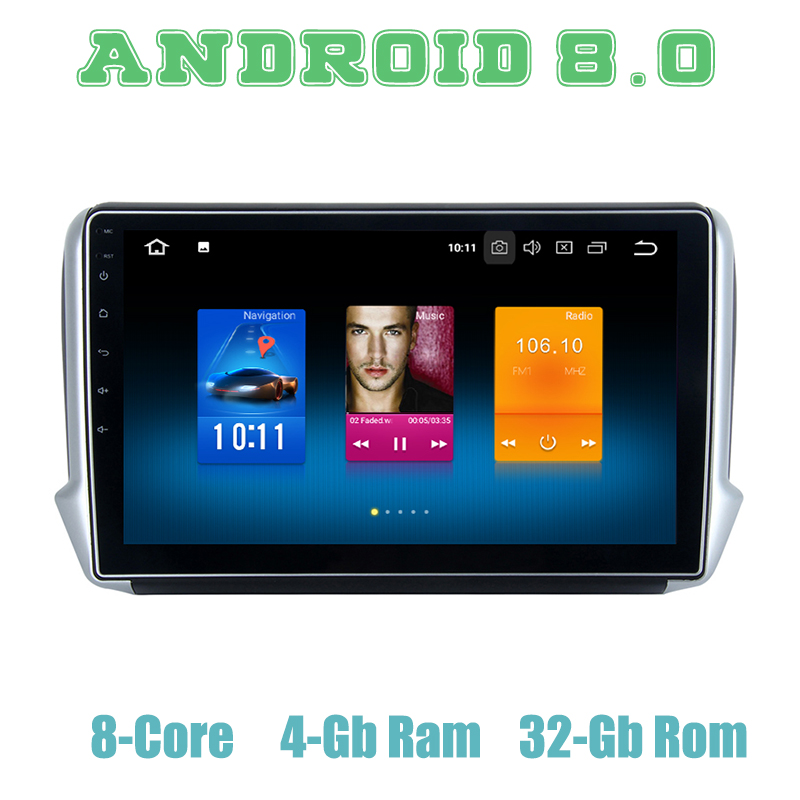 Octa core px5 Android 9.0 car GPS <font><b>radio</b></font> player for <font><b>Peugeot</b></font> <font><b>208</b></font> 2008 with 4+32G wifi 4g usb auto Multimedia image