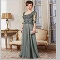 Elegnat Vestidos de Mulher Uma Linha Luva Dos Três Quartos Vestidos Longos Mãe até o Chão Mãe Dos Vestidos de Noiva Partido Vestido Hot ew