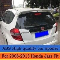 For Honda Jazz Fit Spoiler 2008 2013 High Quality ABS Material Car Rear Wing Primer Color Rear Spoiler For Honda Fit Spoiler
