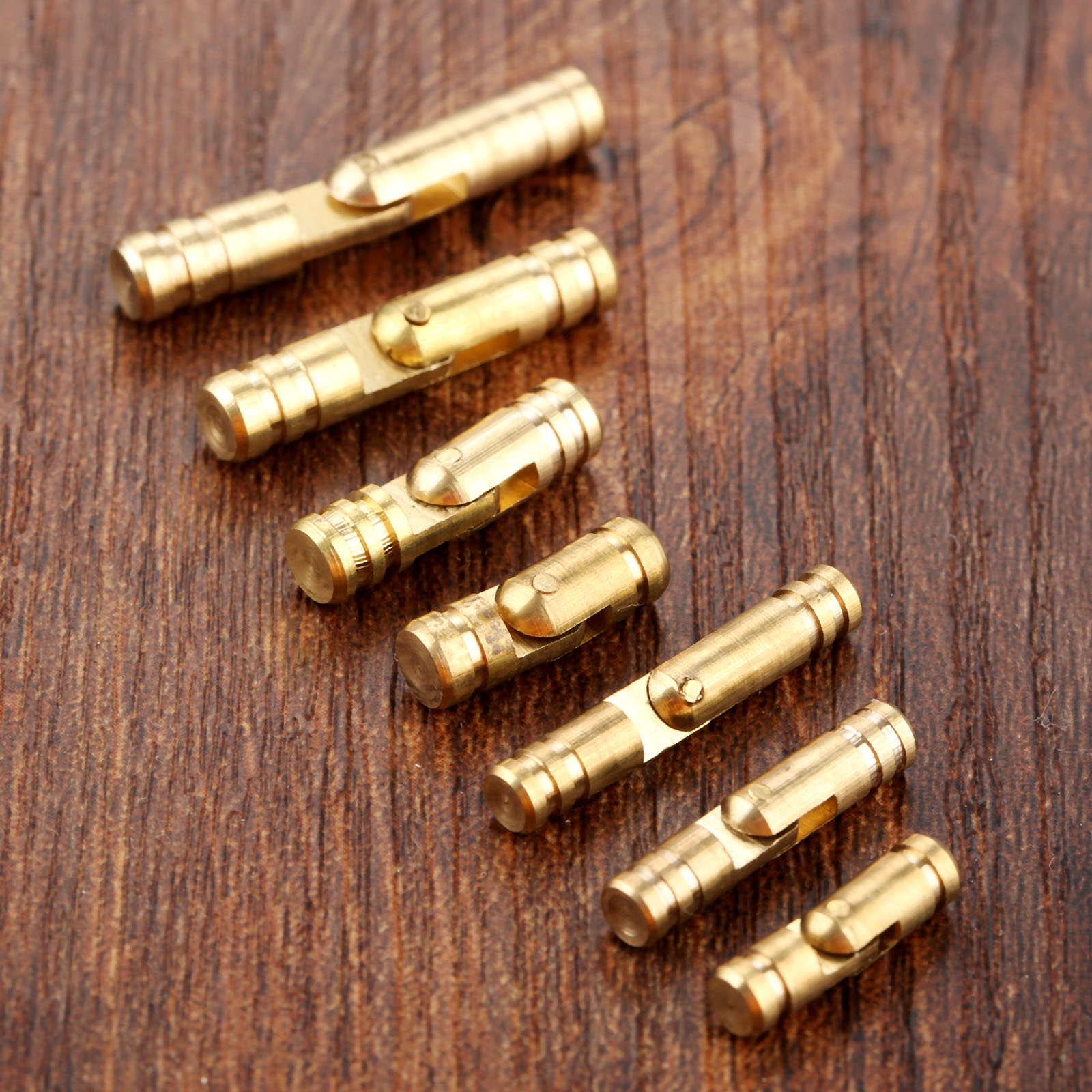 4Pcs Cylinder Brass Copper Invisible Concealed Barrel Hinge Bolt Jewelry Wood Boxes Door Hinges Antique Furniture Hardware(China)