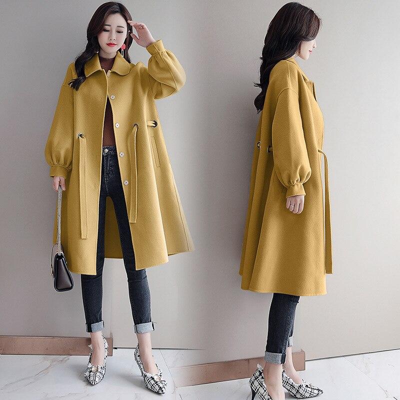 Femmes Longue Section 1 3 4 Loisirs 2 Version Luxe Slim Harajuku Manteau De Laine Fit Streetwear Vêtements Coréenne Moyen Nouveau Et SgwfXX