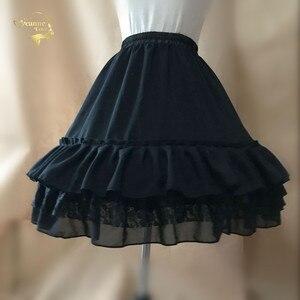 Image 2 - Czarna moda biała suknia balowa podkoszulek huśtawka na krótką sukienkę halka Lolita baletowa spódniczka tutu spódnica Rockabilly krynolina