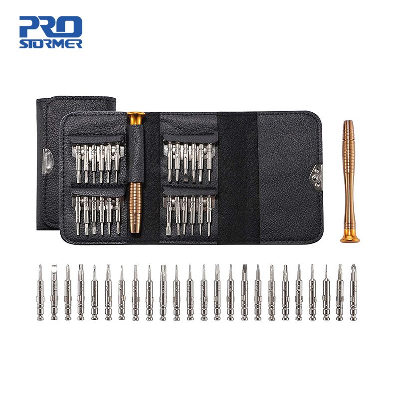 PROSTORMER 1 Set 25 In 1 Torx Precision Screwdriver Repair Tool Set For IPhone Cellphone Tablet PC Hand Tools Accessories
