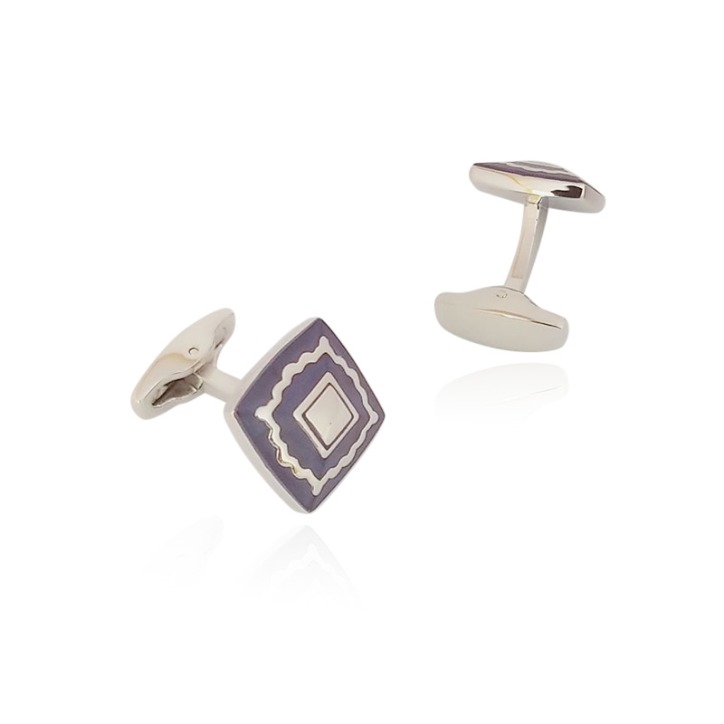Mens Print Square Elegant Cufflinks Fashion Exquisite Shiny Business Shirt Cuff Button Quality Durable Cuff link Wedding Gifts in Tie Clips Cufflinks from Jewelry Accessories