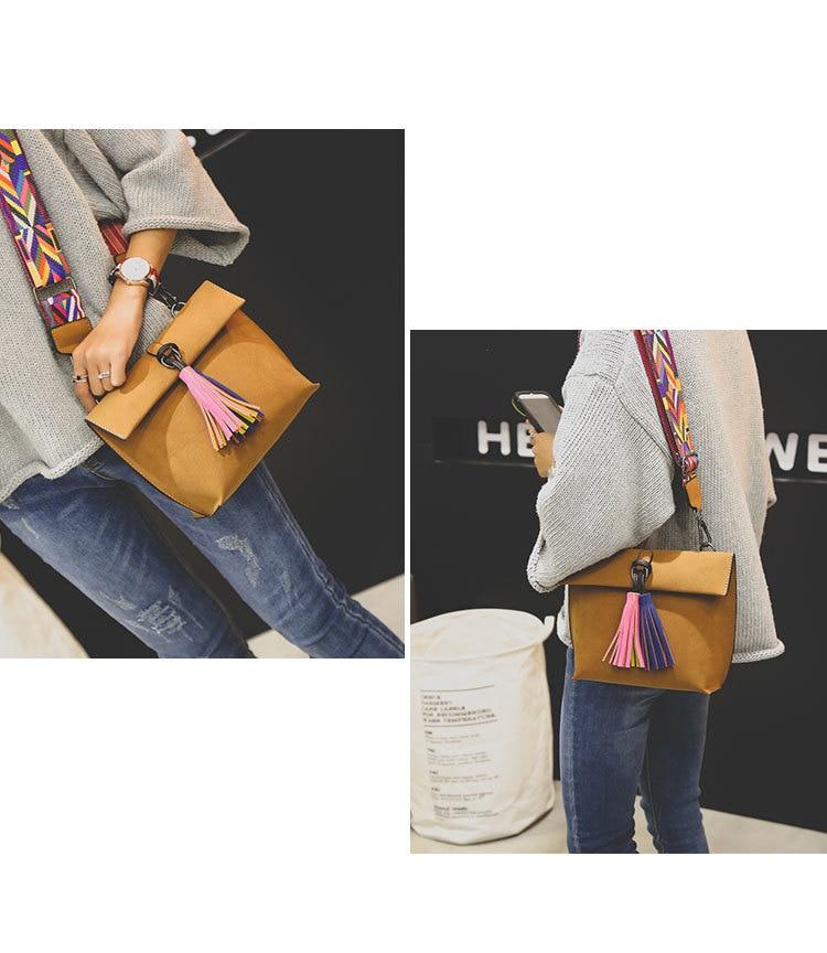 Miyahouse Women Scrub Leather Design Crossbody Bag Girls With Tassel ... d01337f28e017
