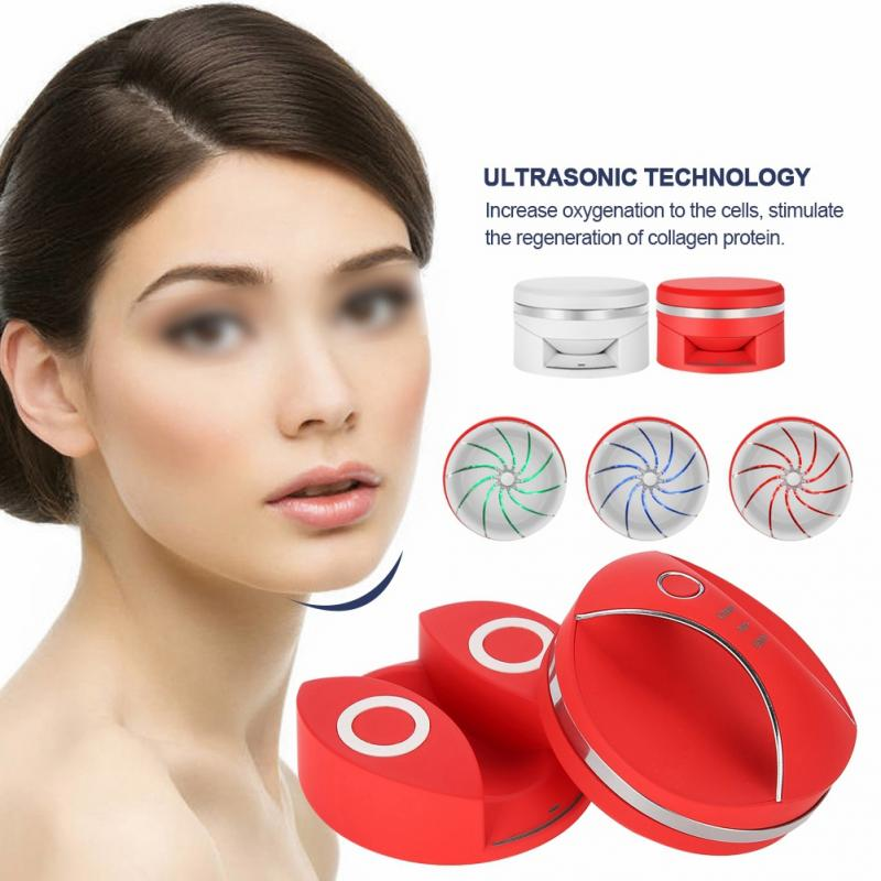 Multi-functional Ultrasonic Professional Massager Beauty Instrument Color Light Wrinkle Acne Remover Face Lift Skin Care Device ultrasound ultrasonic body vibration massager beauty instrument wrinkle acne remover face lift facial skin care device machine