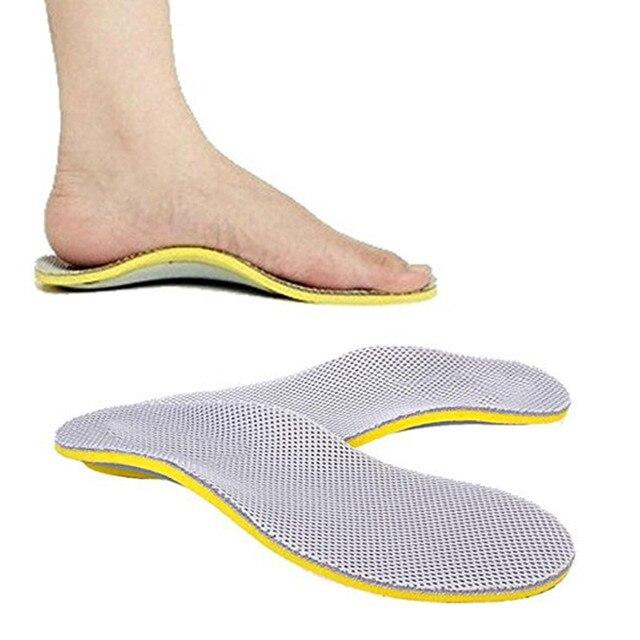 3567f6678 3D Prémio Confortável Órteses TPU Palmilha Ortopédicos pé plano Palmilhas  para Sapatos insert pad Apoio Do