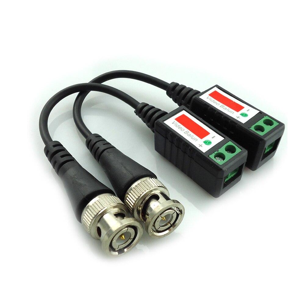 imágenes para 20 unidades de distancia de $ number pies trenzado utp video balun cctv balun pasivo transceptores bnc cat5 cctv adaptador