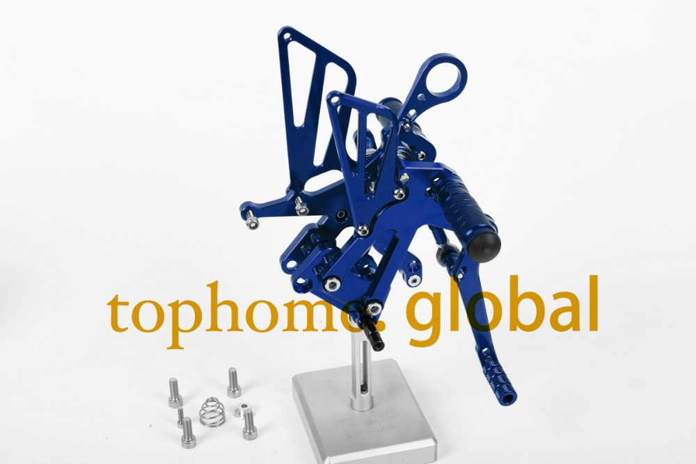 Free Shipping Motorcycle Parts Blue CNC Rearsets Foot Pegs Rear Set For BMW S1000RR 2010-2011 New motorcycle foot pegs