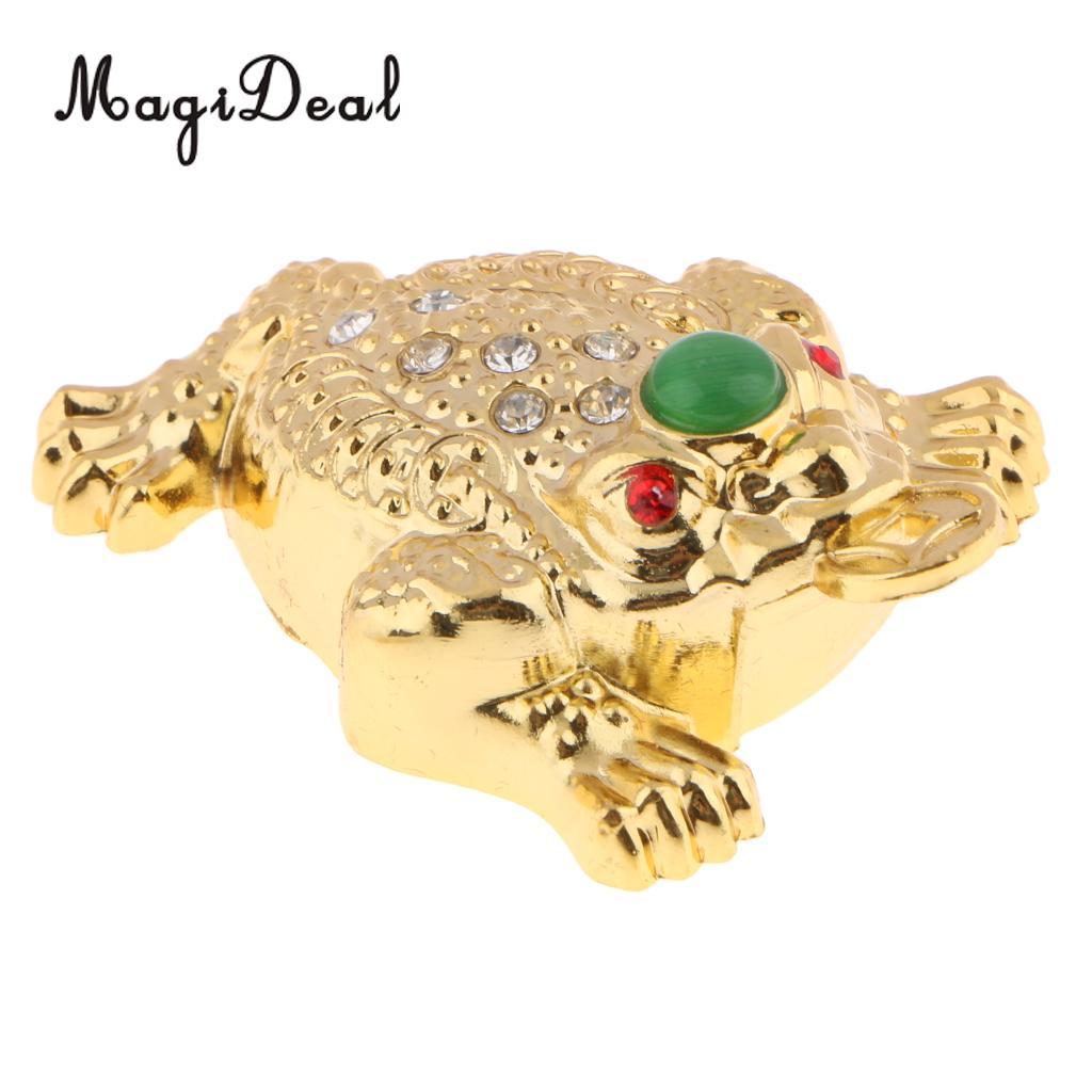 3x Three Legged Chinese Lucky Money Toad Figurine Frog Statue Figurine