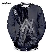 Alan Olav Walker hombres mujeres 3D chaqueta sudadera Otoño de alta calidad  de Moda hombre 3D chaquetas de ropa de béisbol abrig. 43689304ad0