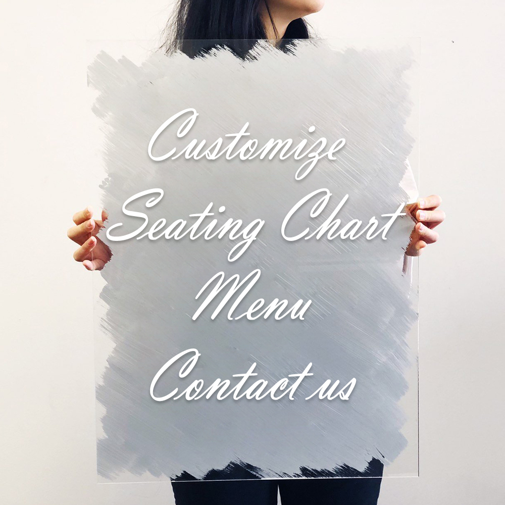 Detail Feedback Questions About Unique Acrylic Seating Chart Sign Wedding Welcome Menu Design Customize Back Painted Party Diy Decor On Aliexpress