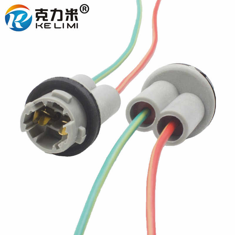 KELIMI 4 Pieces T10 W5W LED Light Wire Harness holder Connector t10 led Extension Adapters Socket Plug car styling