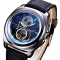 Reloj de los hombres de Lujo Superior de la Marca Nueva Moda Masculina Militar Del Ejército Relojes PU Banda de Cuero Reloj de pulsera de Cuarzo Relogio masculino