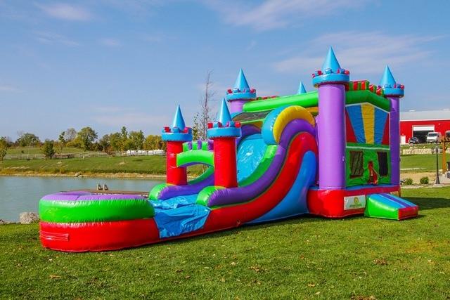 2016 Factory direct sales Inflatable slides,Inflatable castle.Castle combination slide. KYB-163