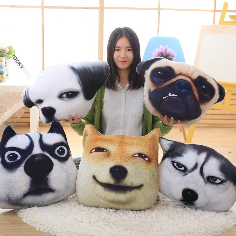 Aliexpress Com Buy 1pc 50cm Big Size 3d Dog Stereo Cushion Pillow
