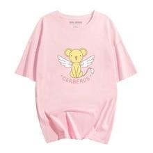 New Anime Cardcaptor Sakura Sakura Kinomoto Cotton T-shirts for Women T Shirt O Neck Short Sleeve Summer Clothes Top Tees S-XXL цены