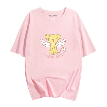 цена на New Anime Cardcaptor Sakura Sakura Kinomoto Cotton T-shirts for Women T Shirt O Neck Short Sleeve Summer Clothes Top Tees S-XXL