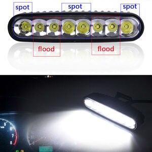 40 Вт 7 ''Светодиодная панель 12 в 24 в комбинированный DRL дневные ходовые мотоциклетные задние лампы мини размер тонкий свет бар ярче 18 Вт 27 Вт