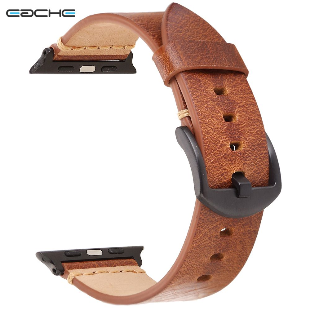 EACHE Apple Watch Band series 1 2 3 strap for iwatch belt handmade Retro oil-tanned Leather band 42mm eache silicone watch band strap replacement watch band can fit for swatch 17mm 19mm men women